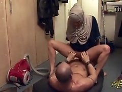 Hijabi Maid Obeying and Delighting Her Master in Every Way